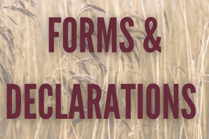 FORMS & DECLARATIONS